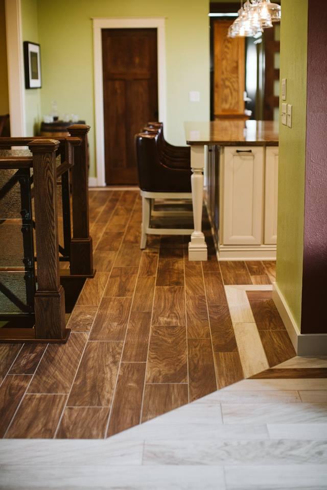 Flooring Transition Between Kitchen And Stairs Gietzen Construction